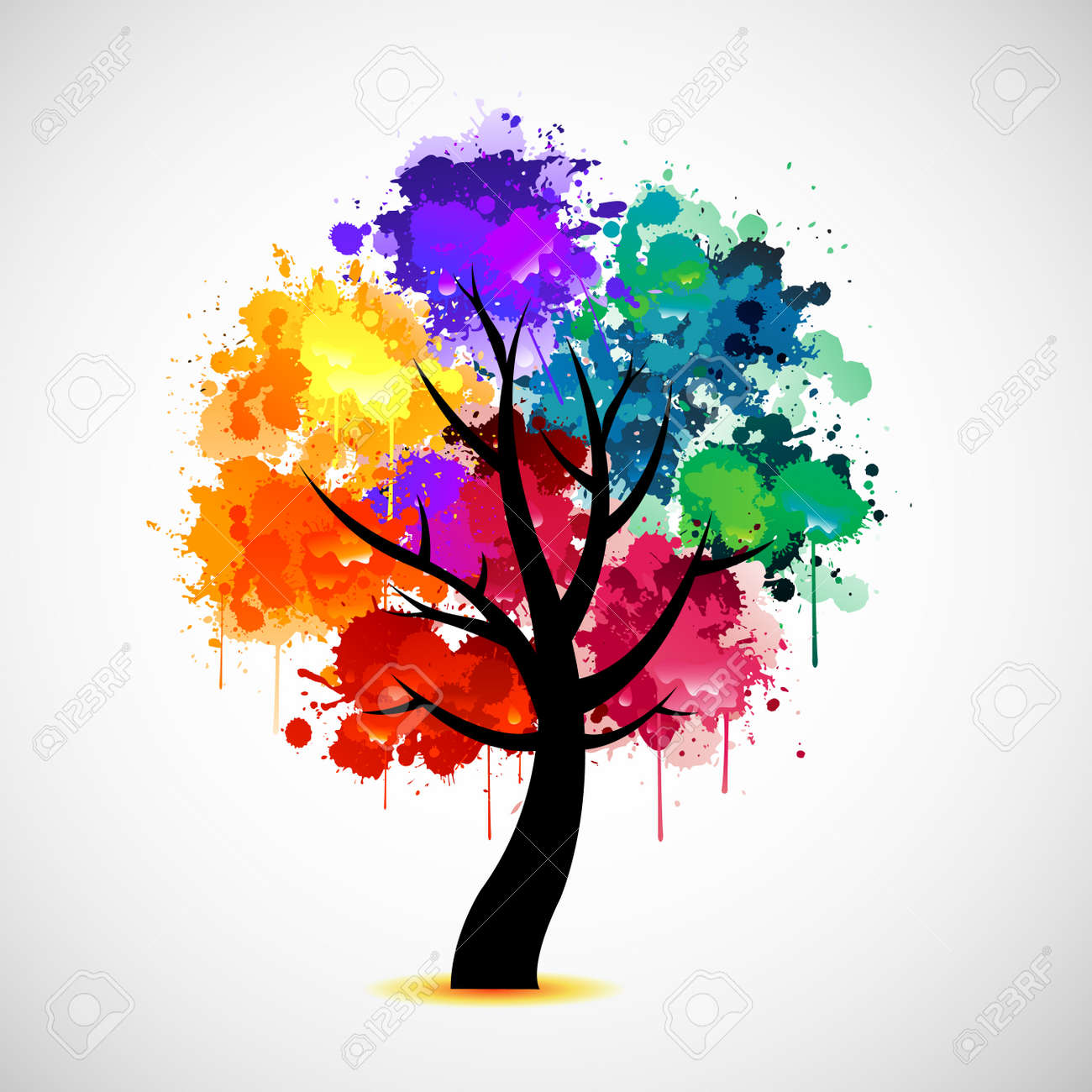 Colorful tree Stock Vector - 9934554