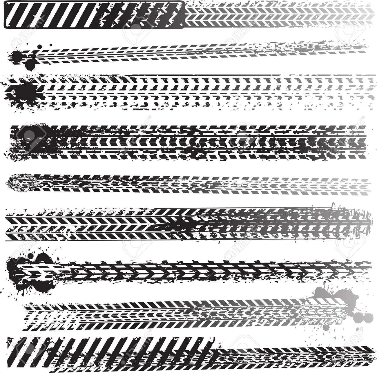 Set of tire tracks Stock Vector - 12481230