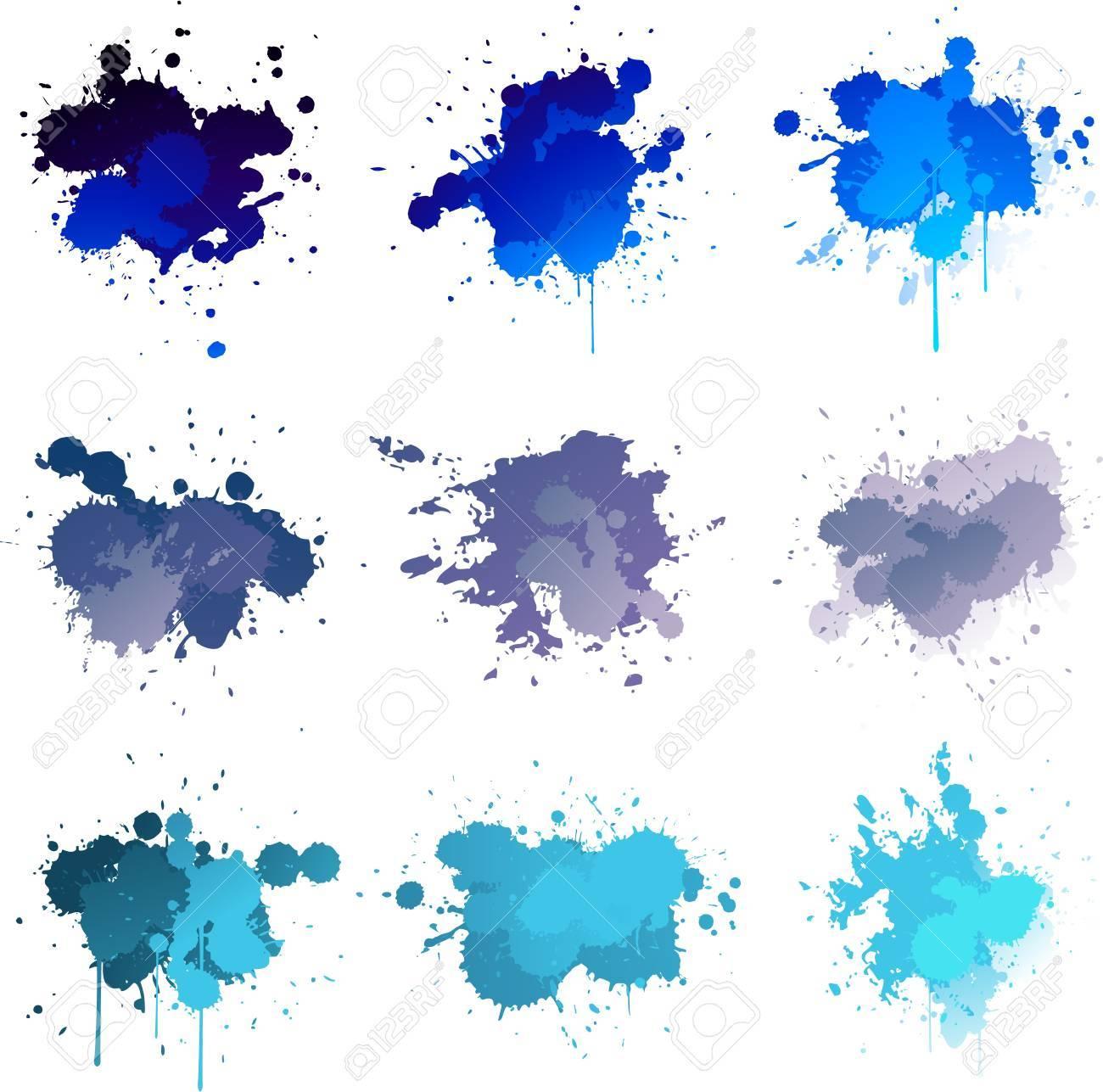 Blue colorful paint splat Stock Vector - 14109028