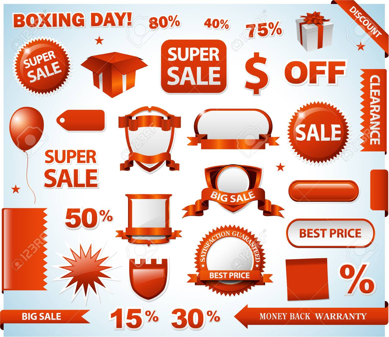 red sale tags collection set design Stock Photo - 16218159
