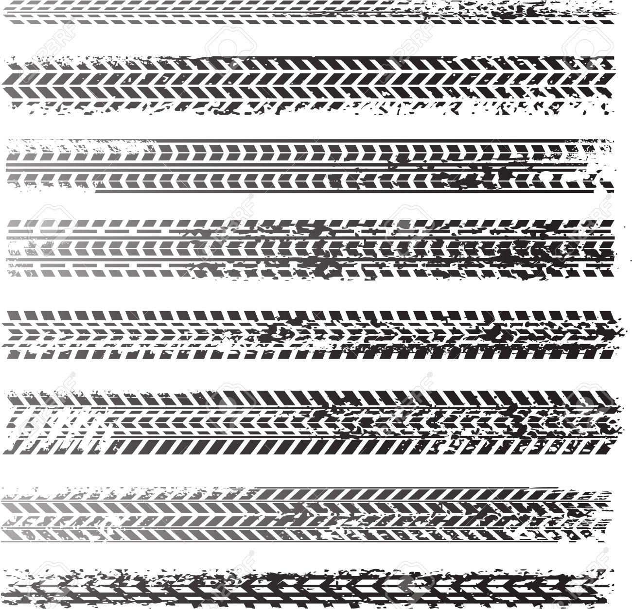 Dirty tire tracks Stock Vector - 17311997