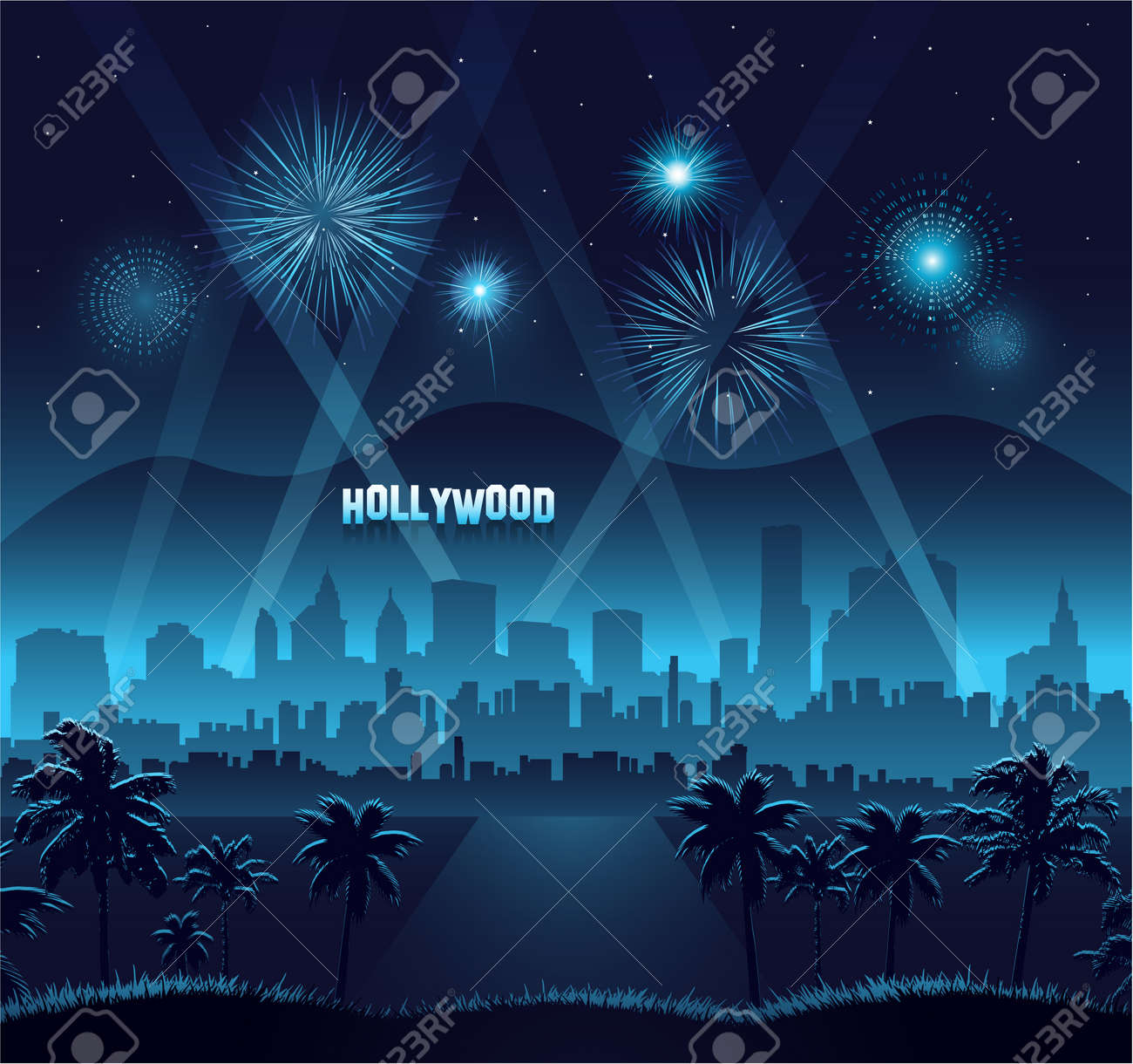 Hollywood movie premiere background celebration Stock Vector - 17702105