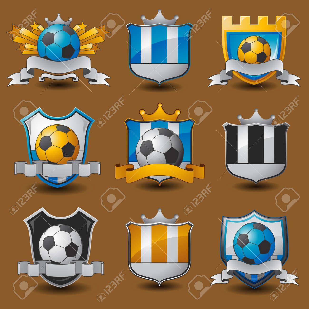 Soccer team emblems Stock Vector - 18283549