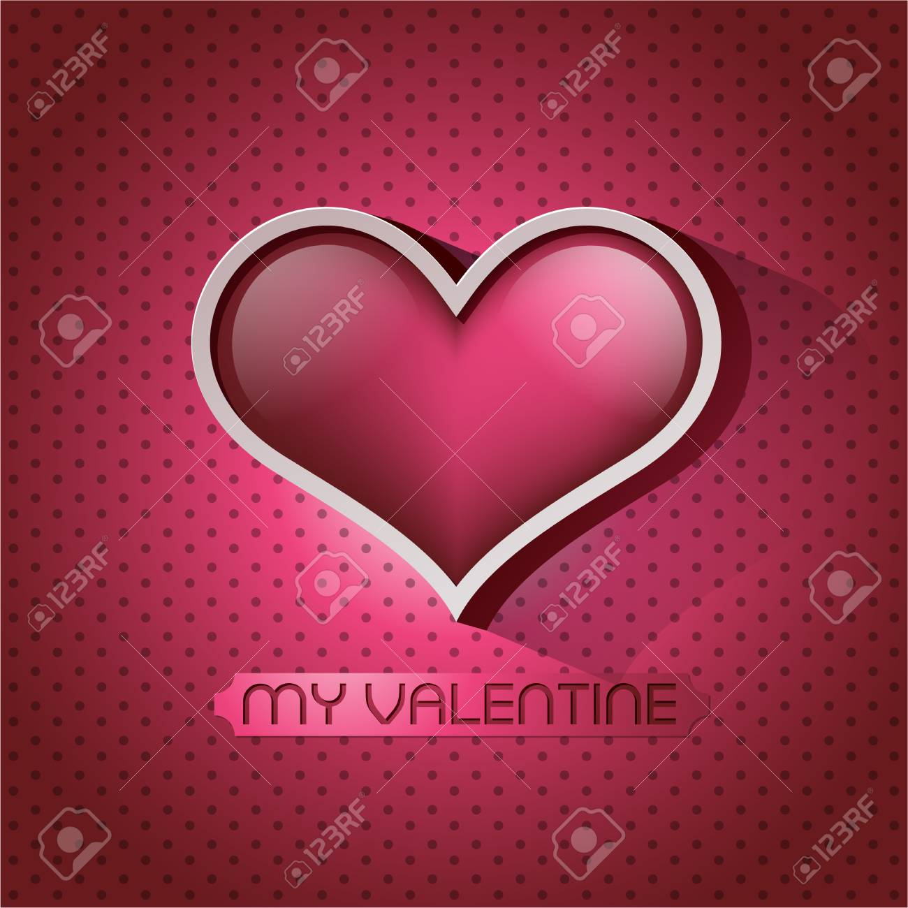 Glossy heart valentin's day card eps 10 Stock Vector - 24060735