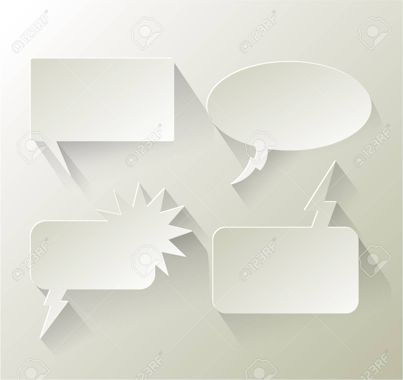Abstract design speech bubble copyspace eps 10 Stock Vector - 24060802