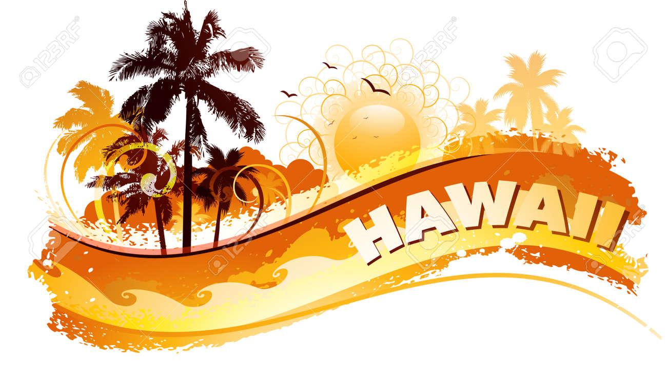 Tropical hawaii background - 35250051