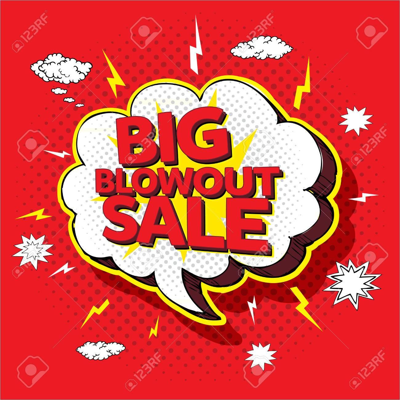 Big blowout sale pop up cartoon banner vector illustration - 44153731
