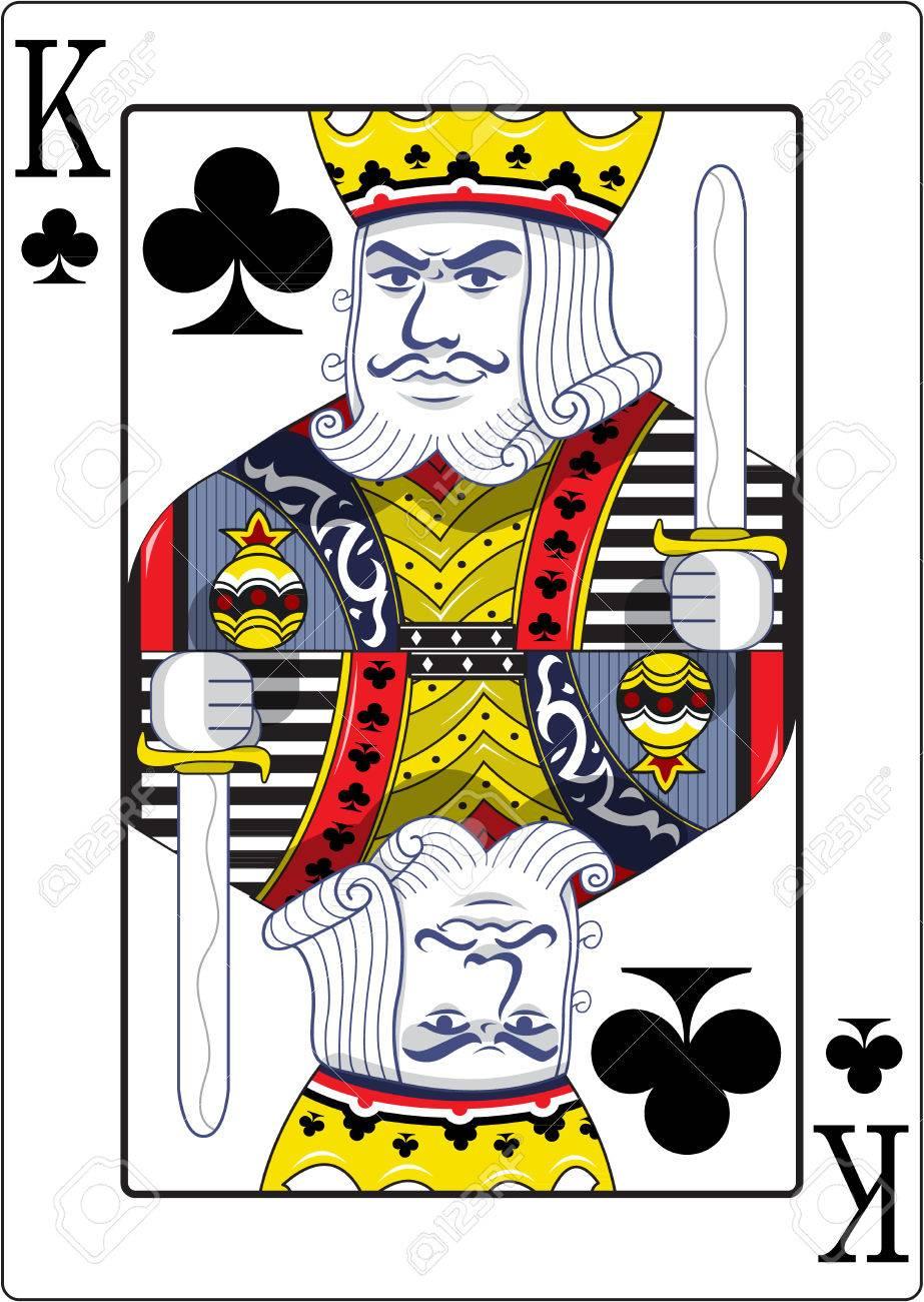 King of clubs original design - 48415794