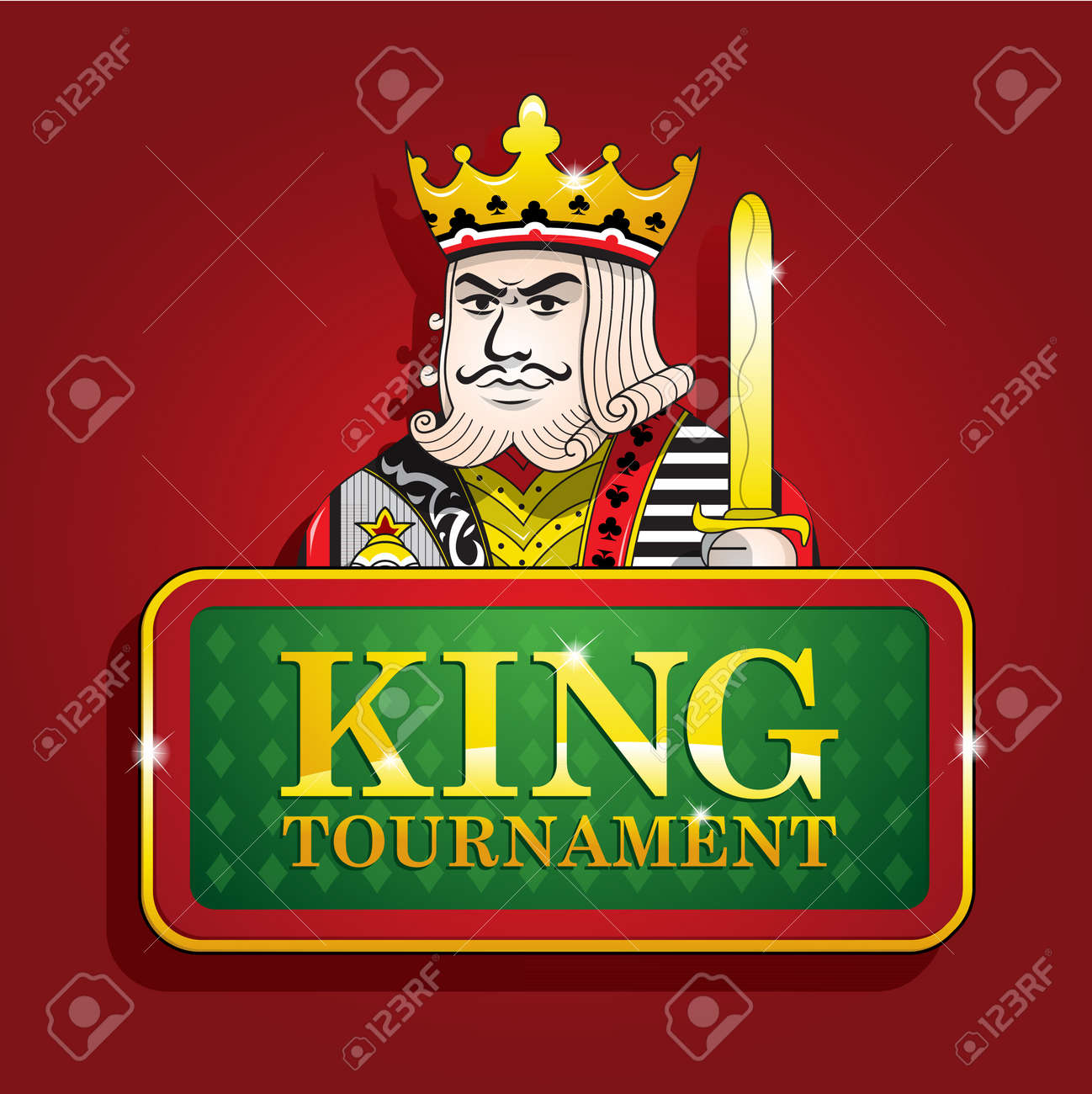 King of clubs casino poker banner tournament background - 48415796