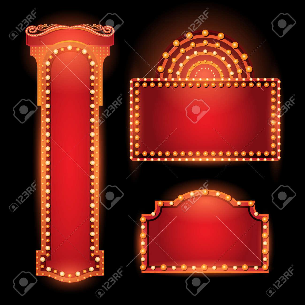Brightly vintage glowing retro cinema neon sign - 56731272