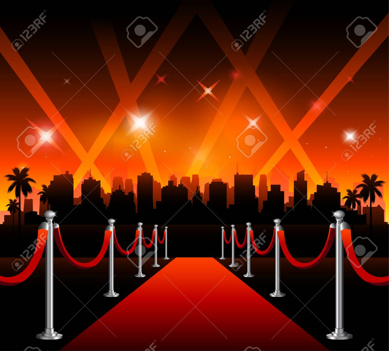 Now showing vector theater movie banner sign - 110044181