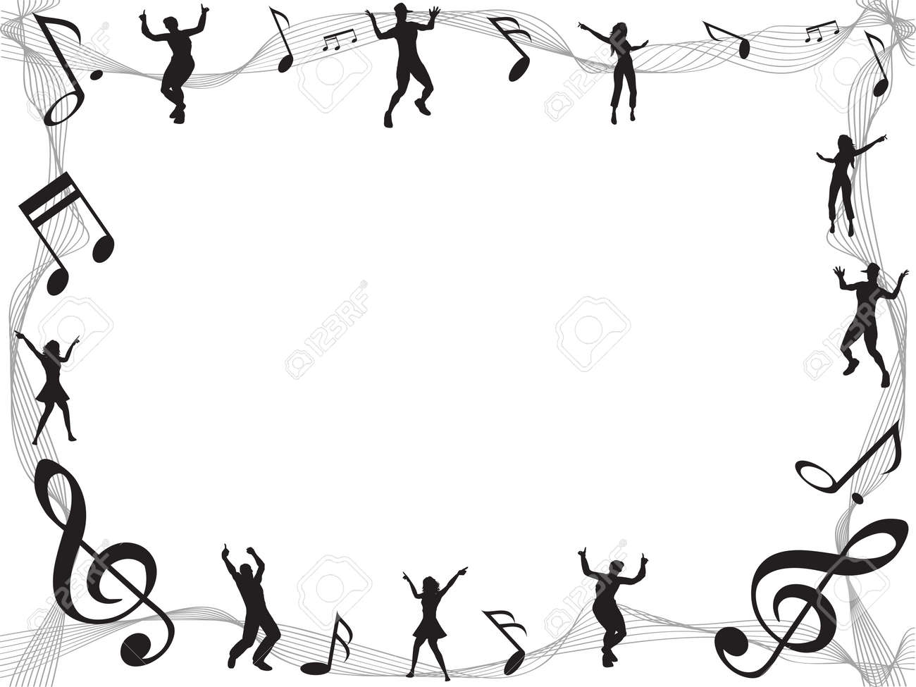 The Background Of Music Note Frame With Copyspace Royalty Free ...