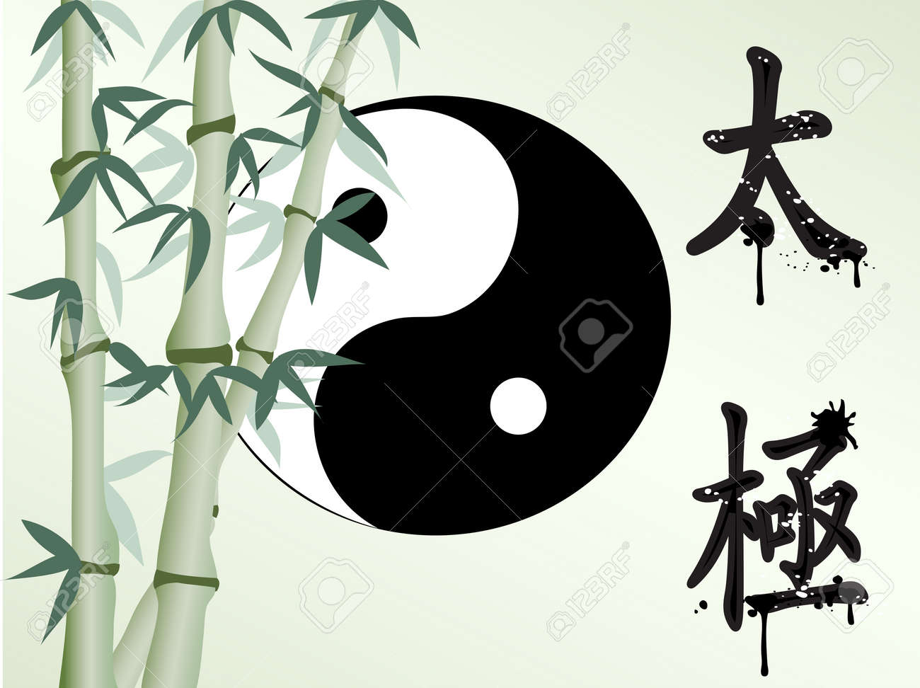 the background of zen like bamboo Stock Vector - 7103816