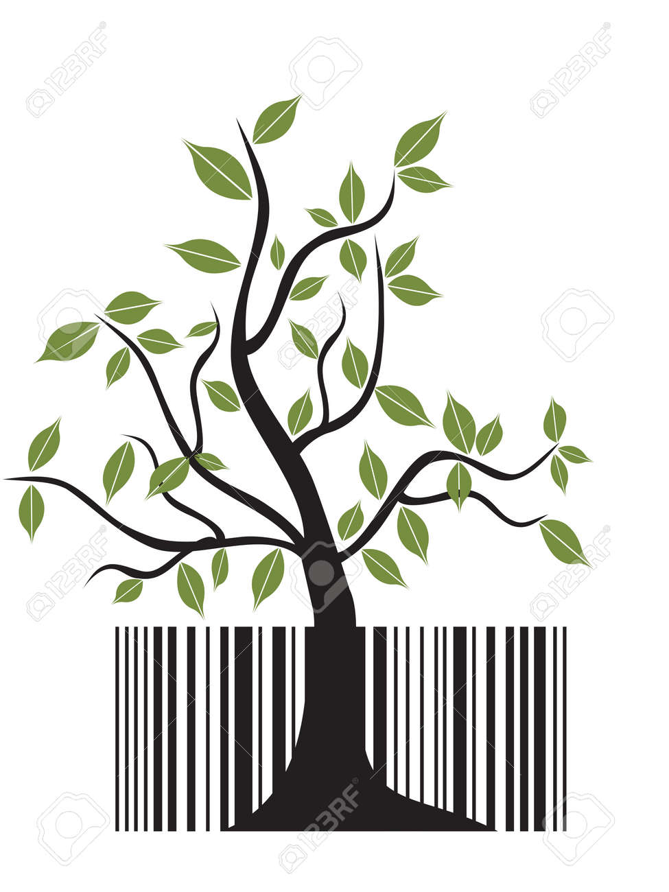 special concept of barcode tree for design Stock Vector - 8107050