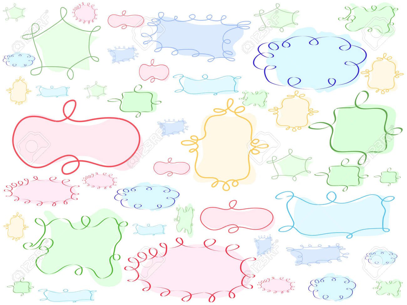special hand-drawing frame background for design background Stock Vector - 8107055