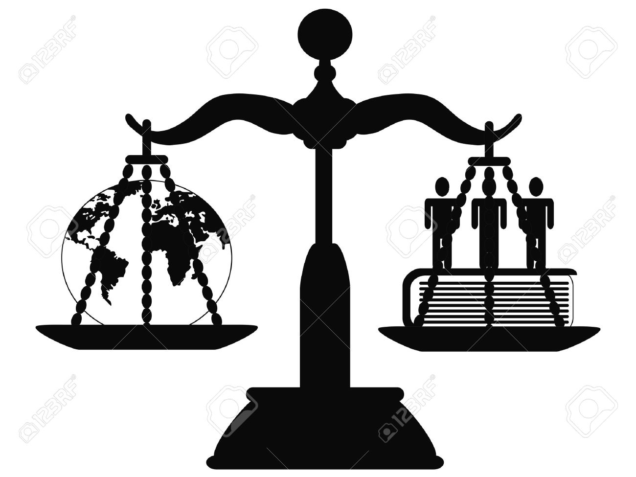 The Symbol Of Justice On The Scale Royalty Free Cliparts Vectors