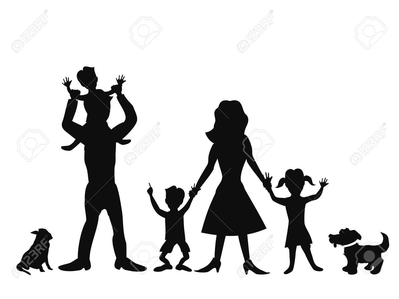 Happy Black Family White Background