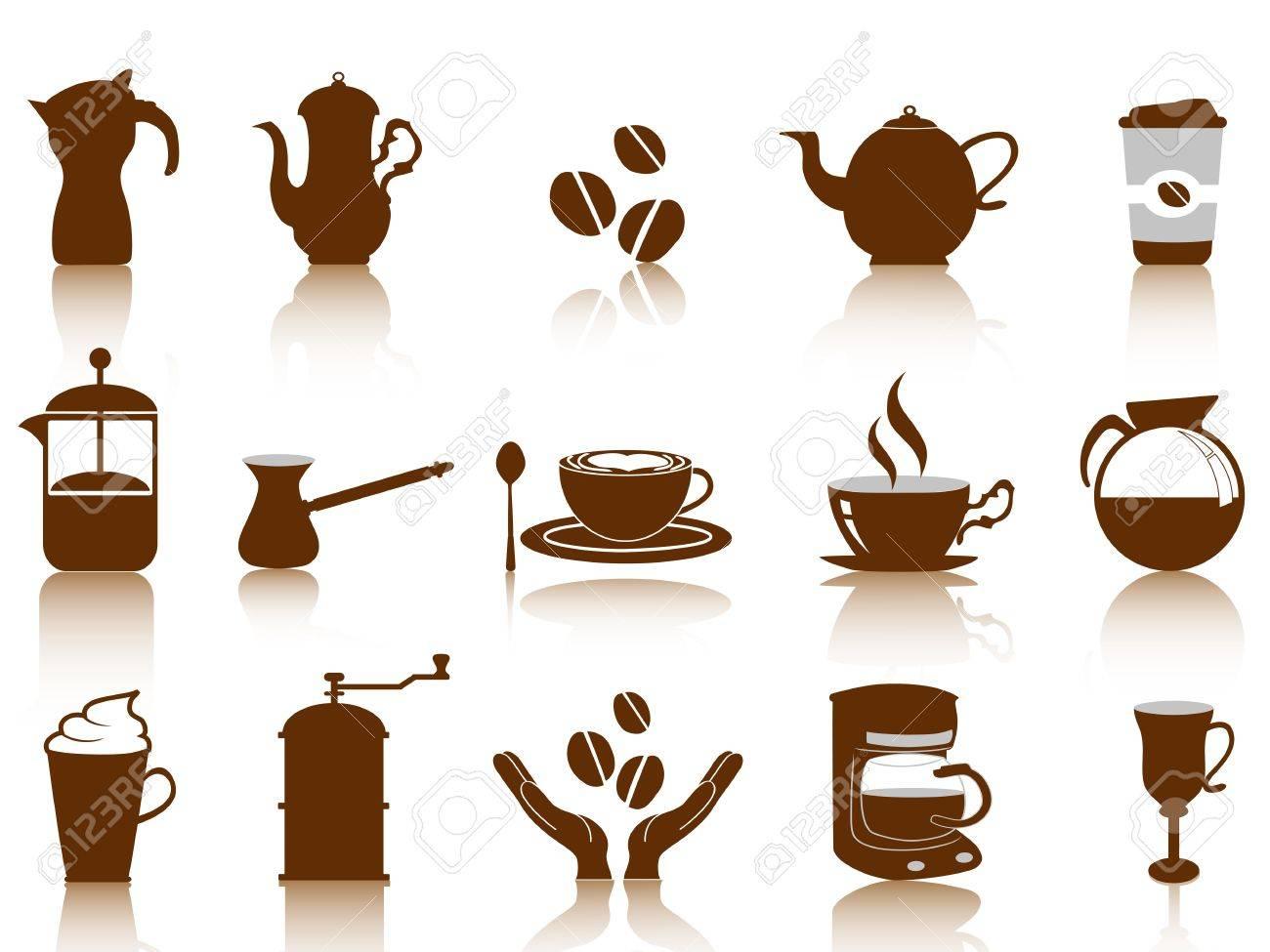 coffee icon set Stock Vector - 11267564