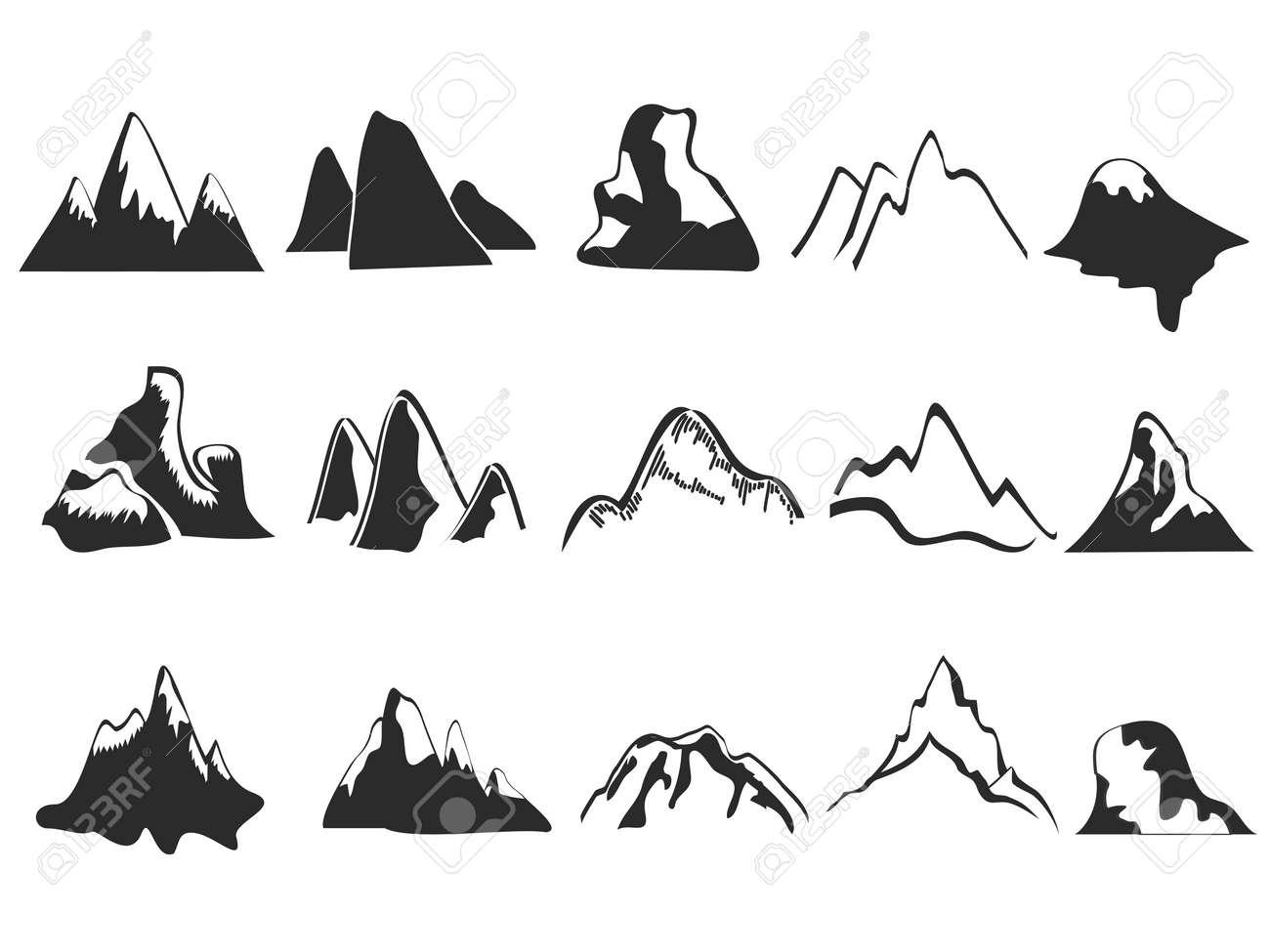 Volcano Symbol silhouette  volcano