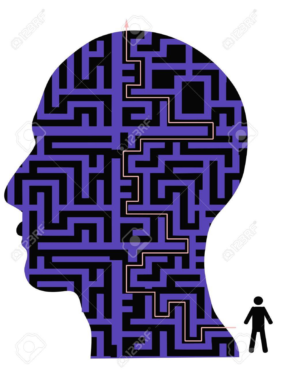 the background of human head maze Stock Vector - 12776042