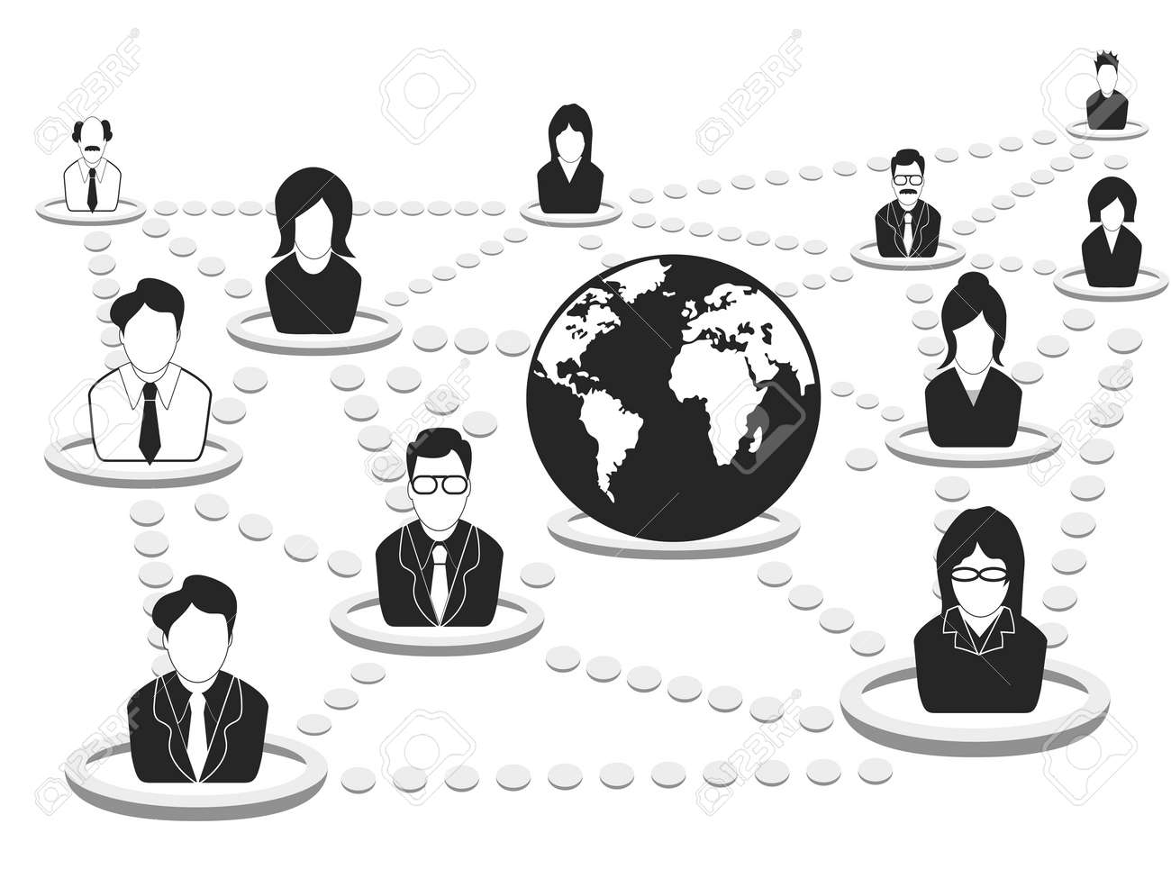 the background of business people networking Stock Vector - 14301245
