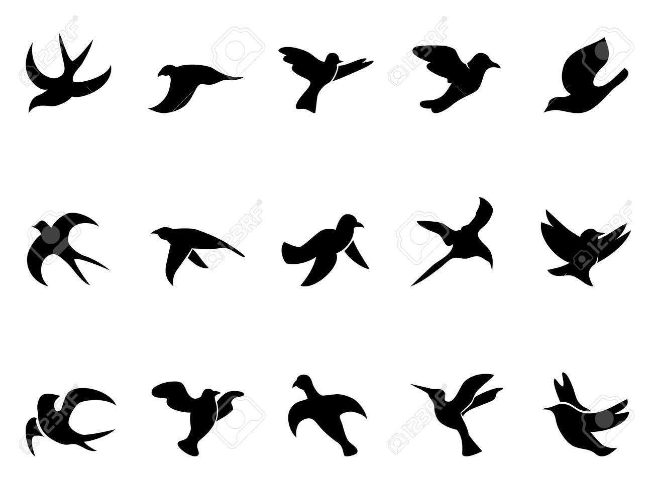 isolated simple bird Stock Vector - 15691193