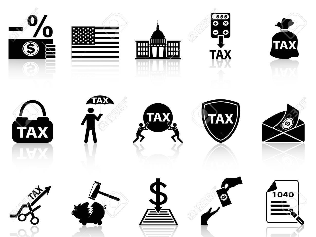 Isolierten Schwarzen Steuern Symbole Aus Weißen Hintergrund ...