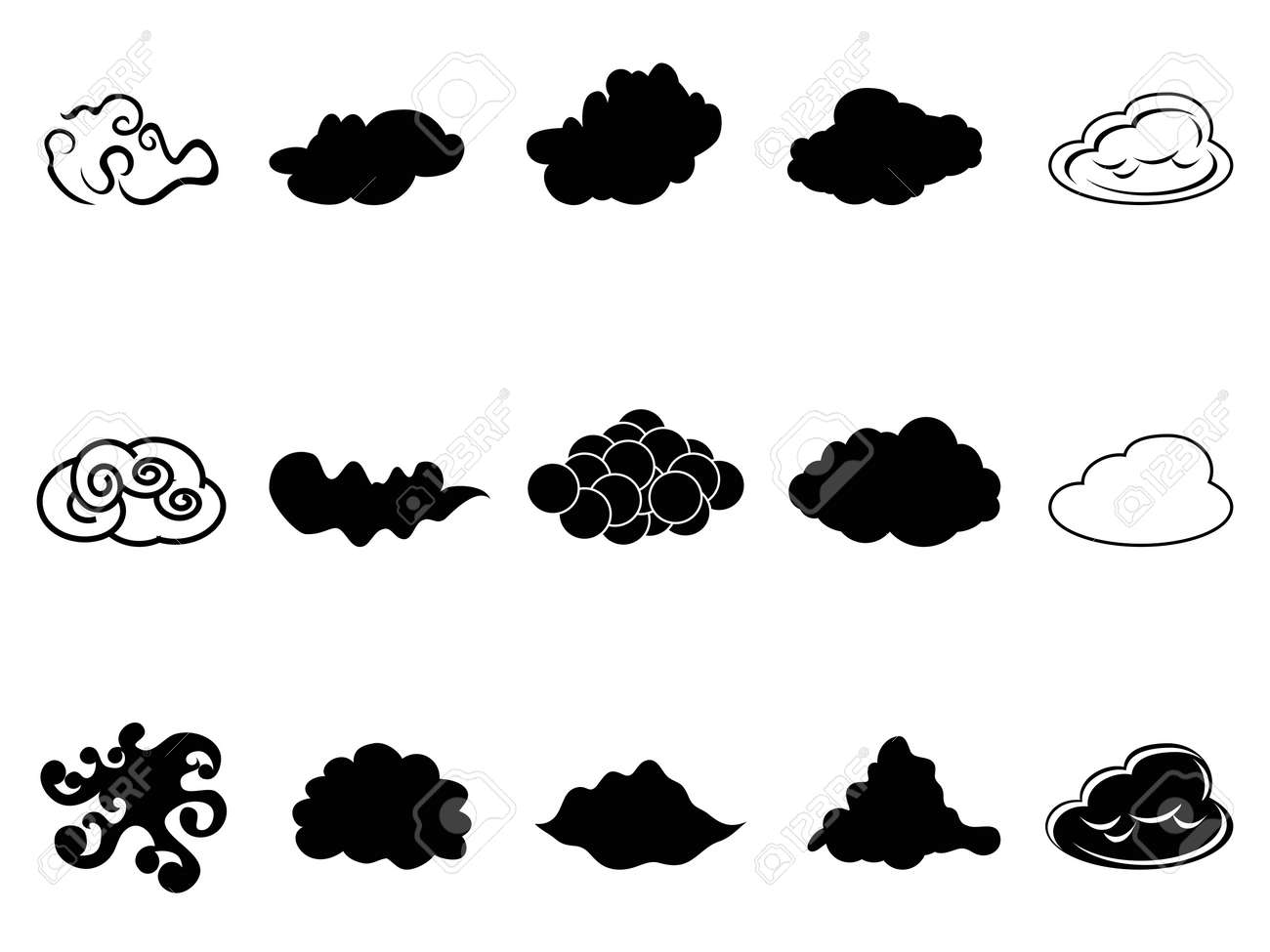 Isolated cloud symbol icons set from white background royalty free isolated cloud symbol icons set from white background stock vector 17628091 biocorpaavc Gallery