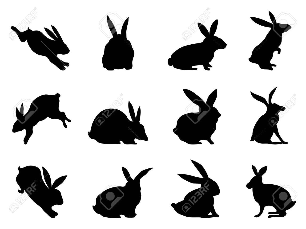 Rabbit Ears Silhouette black rabbit silhouettes