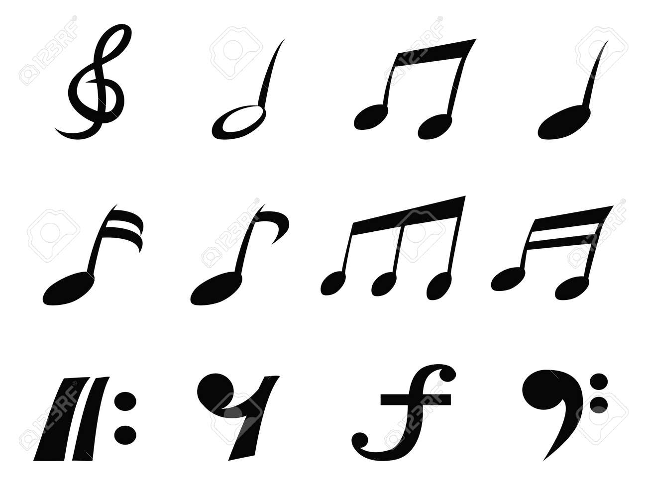 Isolated music note icons from white background royalty free isolated music note icons from white background stock vector 24539758 buycottarizona