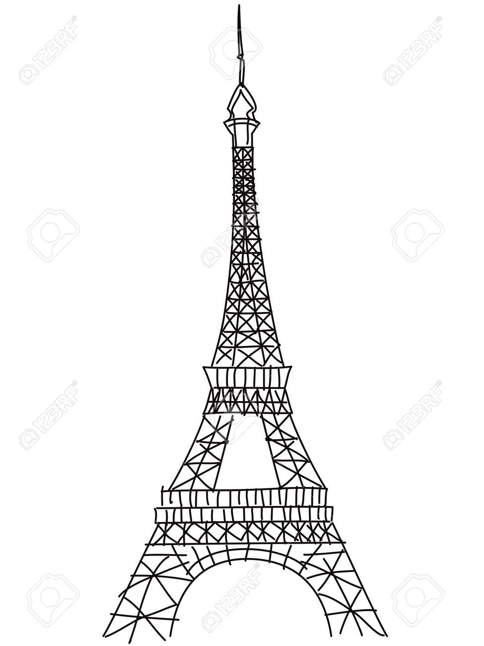 Isolated doodle eiffel tower drawing on white background royalty isolated doodle eiffel tower drawing on white background stock vector 31063120 thecheapjerseys Gallery