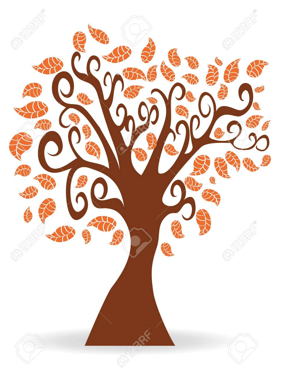 Isolated Cartoon Autumn Tree Royalty Free Cliparts Vectors And