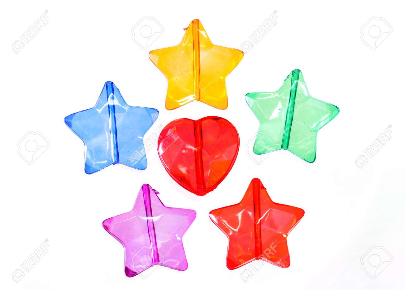 Perles De Forme D étoile En Plastique Transparent Coloré Banque D Images Et Photos Libres De Droits Image 29392845