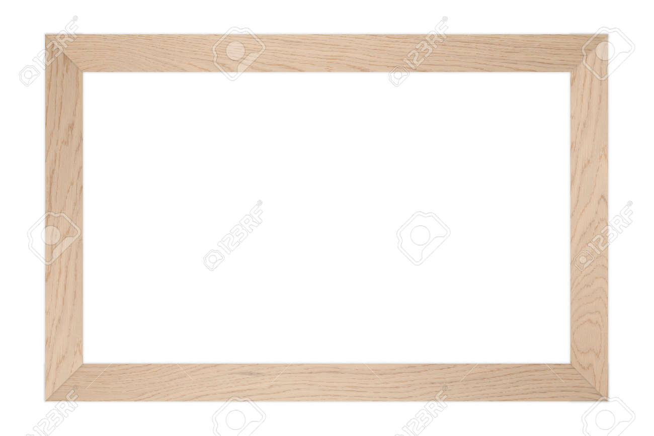 Blank Light Brown Wood Frame Stock Photo Picture And Royalty Free