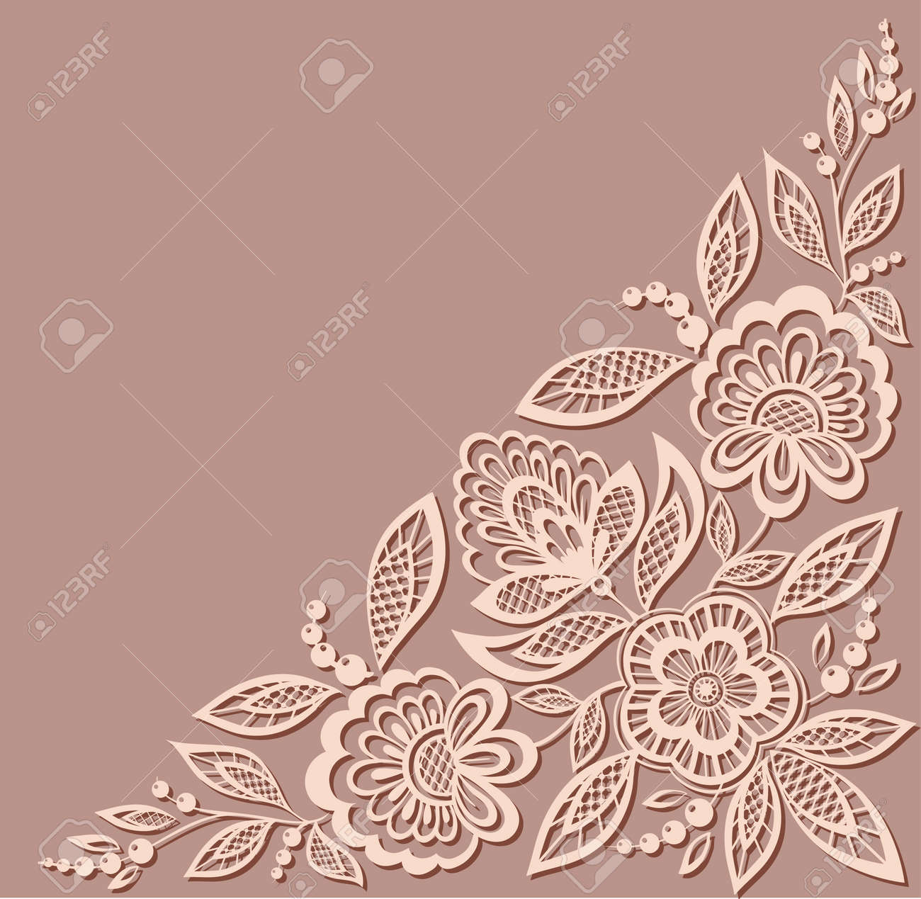 beautiful floral pattern, a design element in the old style. Many similarities to the author's profile - 23060633