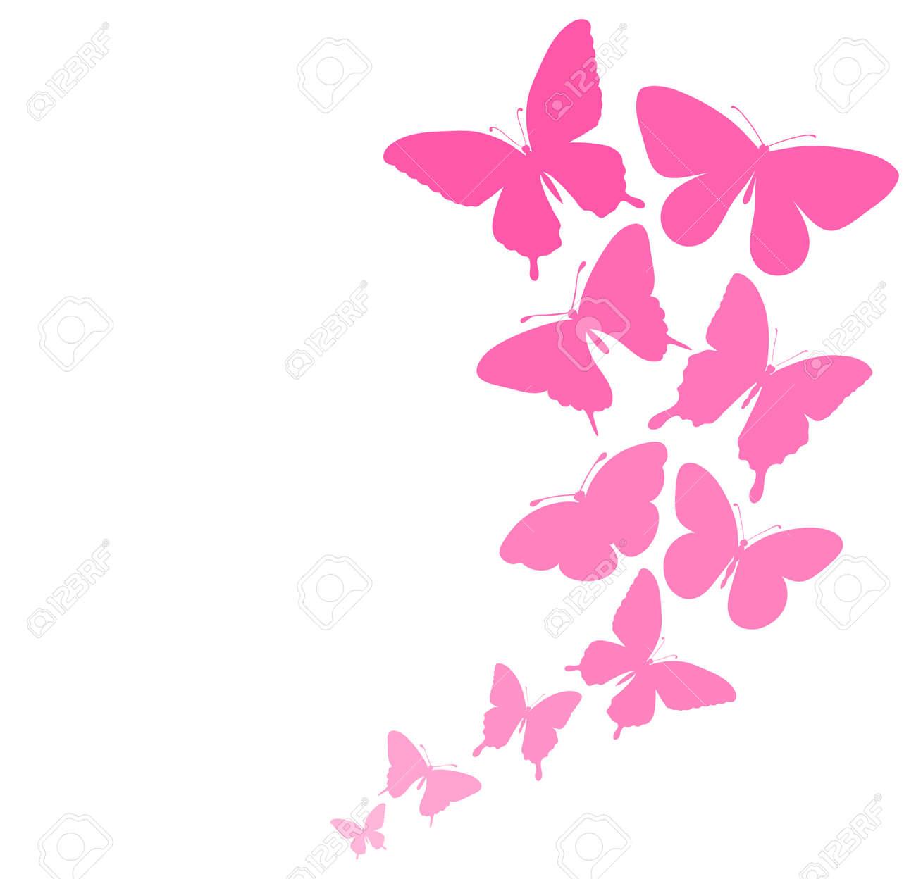Fondo Con Una Frontera De Mariposas Volando Perfecto Para Las Tarjetas De Felicitación E Invitaciones De Fondo Para El Día De La Boda De Cumpleaños