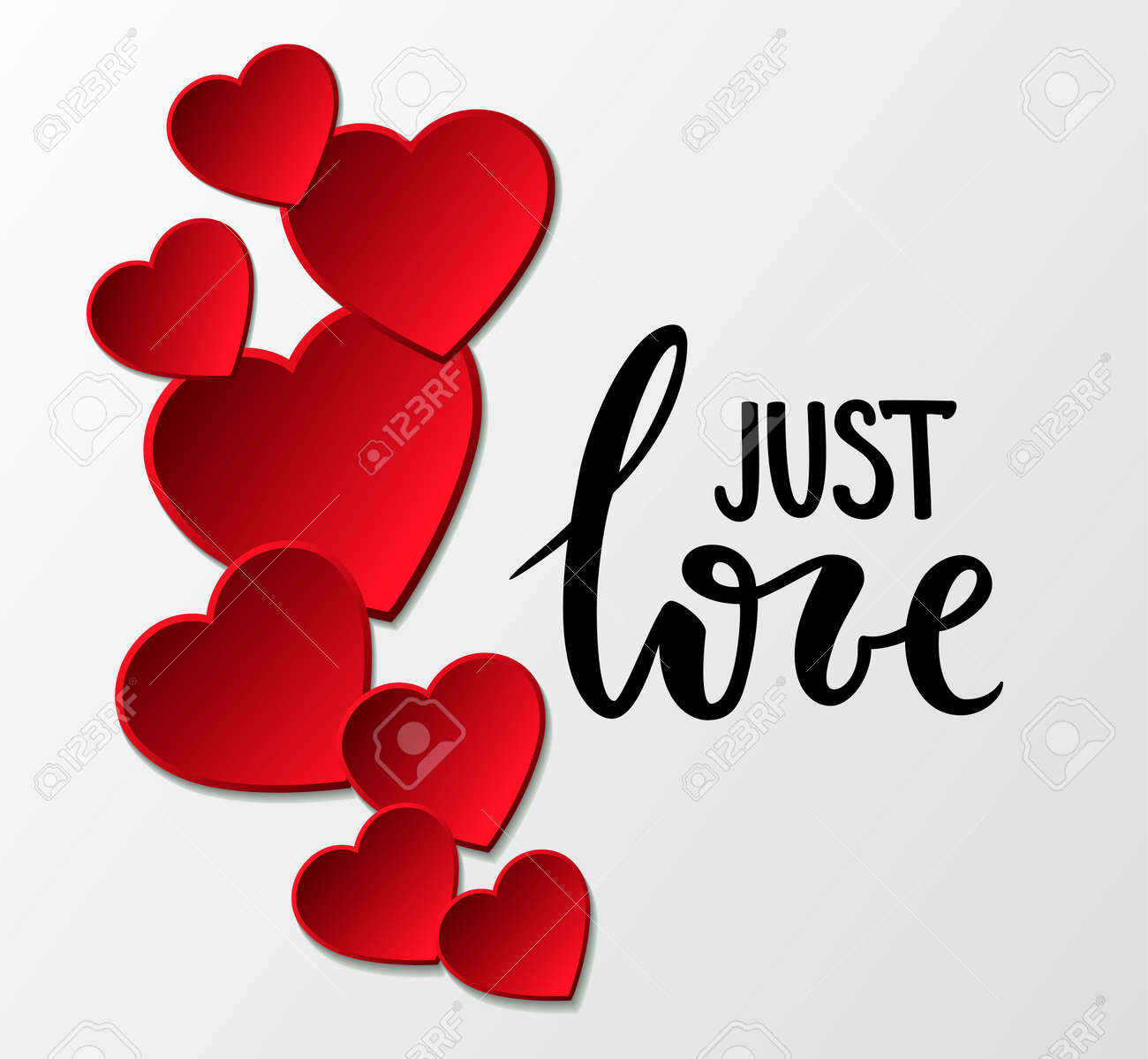 Jast Love Hand Drawn Calligraphy And Brush Pen Lettering With ...