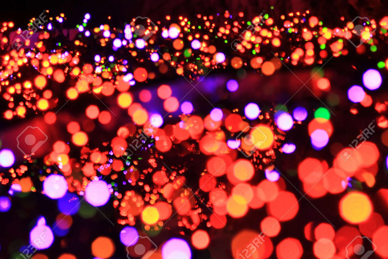 Night lights holiday - Christmas Night Lights In Abstract Format Beautiful Colors Of The Holiday Season Red