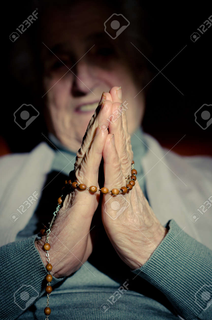 a close up view of praying hands Stock Photo - 16306300