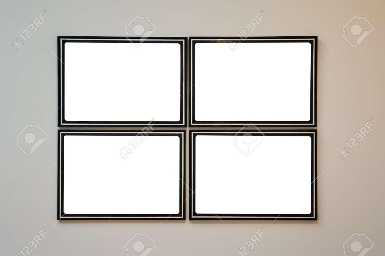 musée d'art cadre mur orné minimal design blanc isolé modèle de