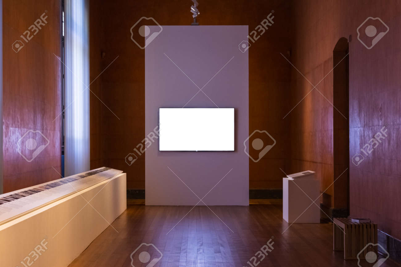 485f3a729452 Blank Art Museum Isolated Painting Frame Decoration Indoors Wall White  Template Stock Photo - 80663893