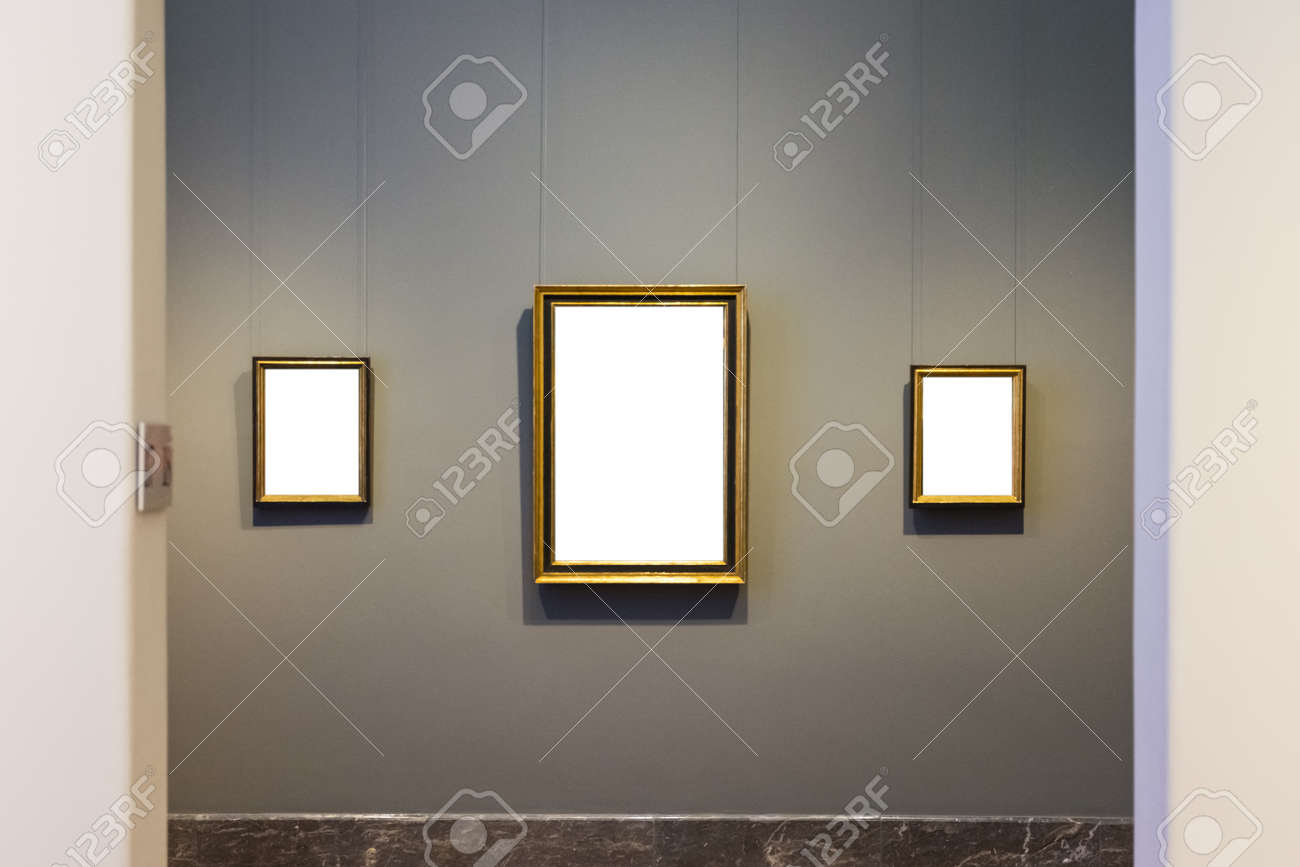 a198a89ef300 Blank Art Museum Isolated Painting Frame Decoration Indoors Wall White  Template Stock Photo - 80445834