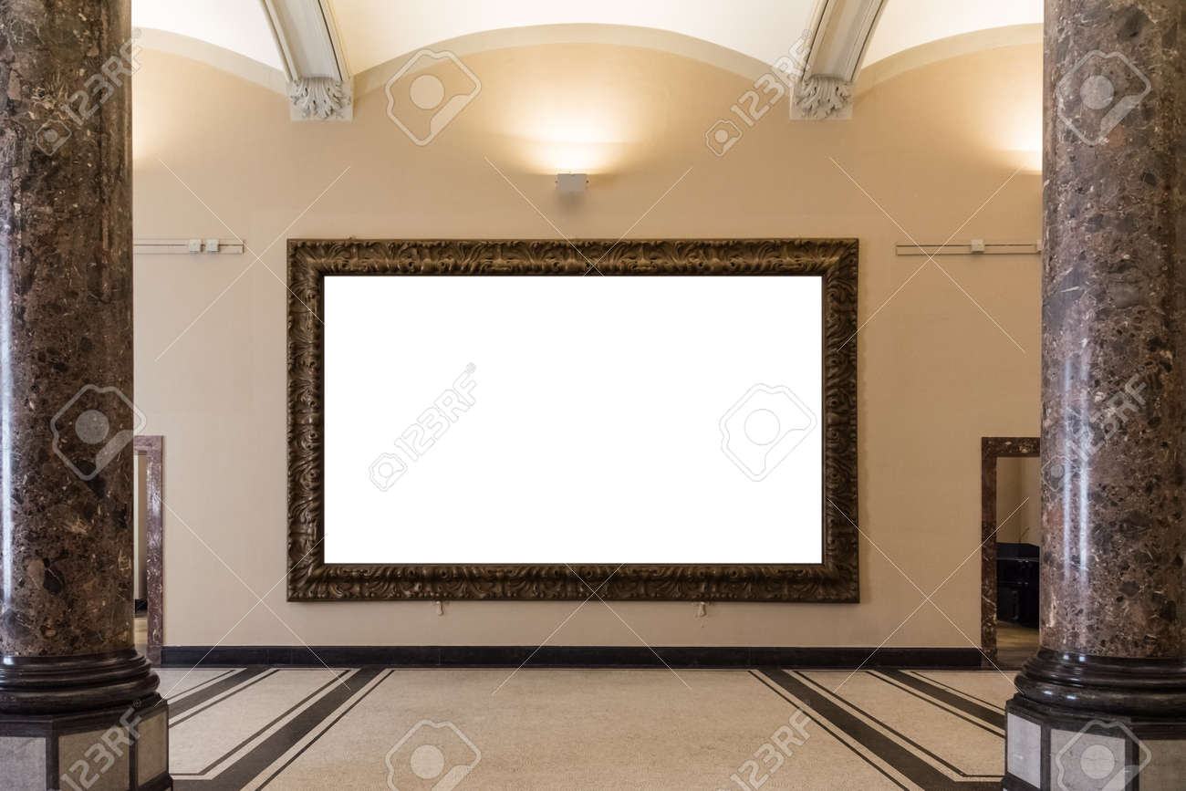 667cda3d0c46 Blank Art Museum Isolated Painting Frame Decoration Indoors Wall White  Template Stock Photo - 80665950