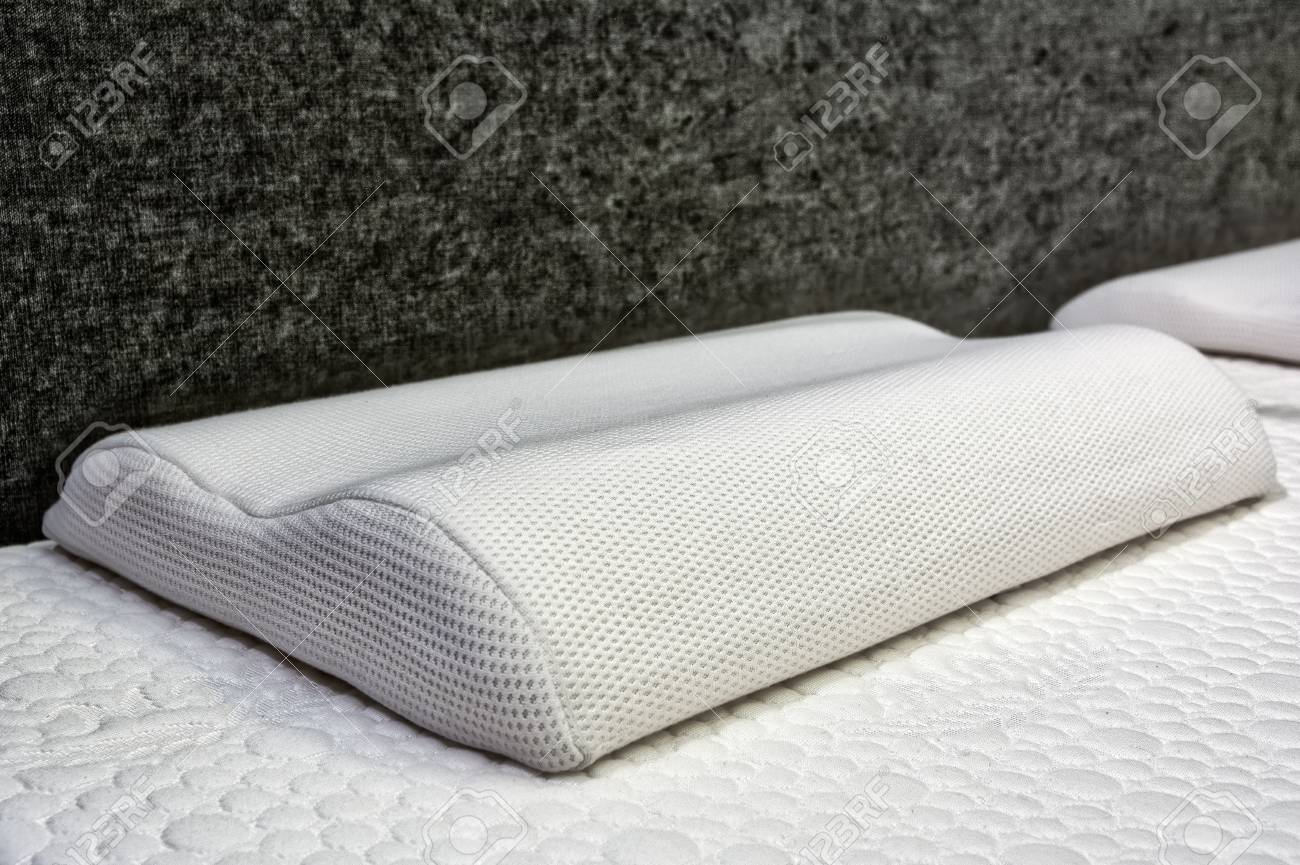 Bed Therapeutic Pillow Mattress Closeup Without Comforter Sleeping Stock Photo Picture And Royalty Free Image Image 88036231