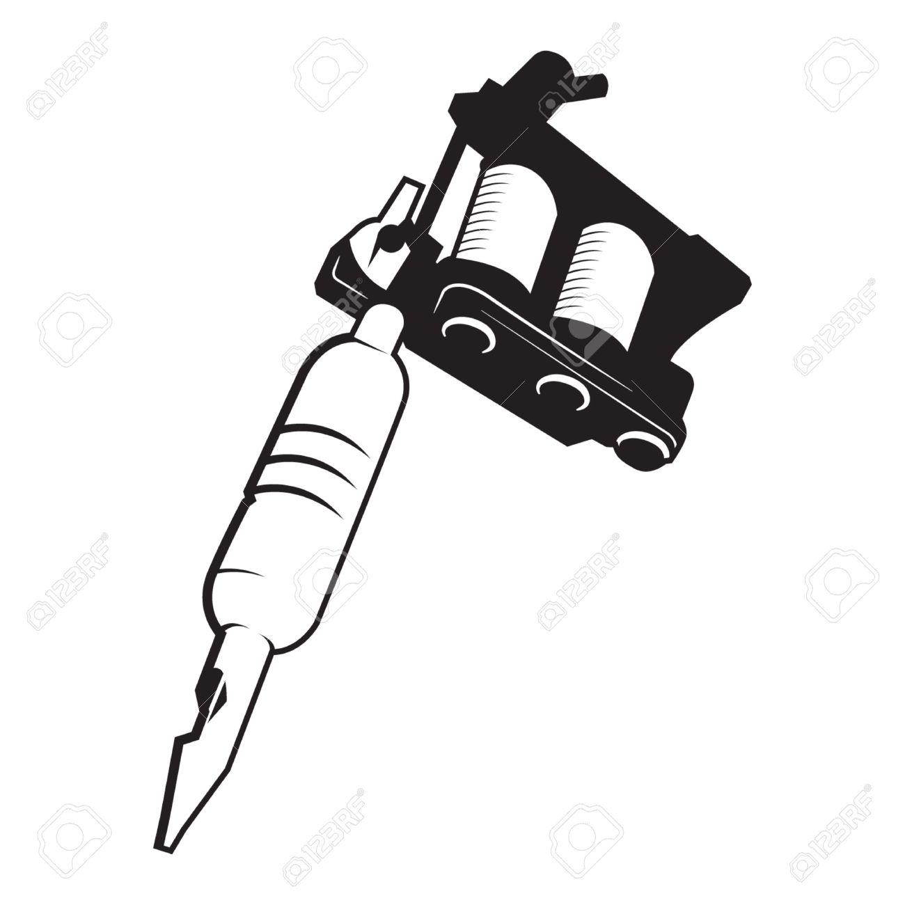 tattoo gun machine vector royalty free cliparts vectors and stock rh 123rf com