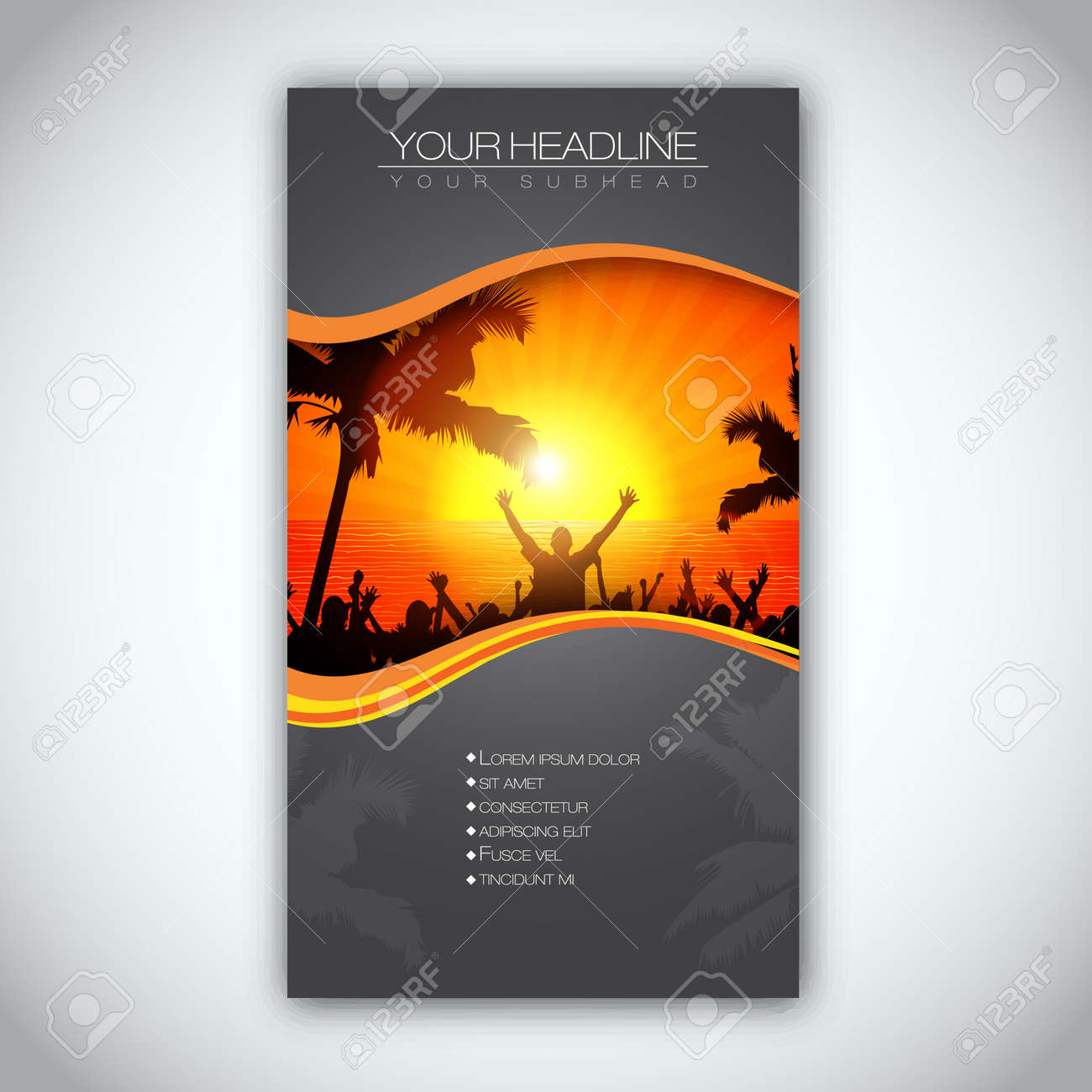 summer time brochure template royalty cliparts vectors and summer time brochure template stock vector 14424202