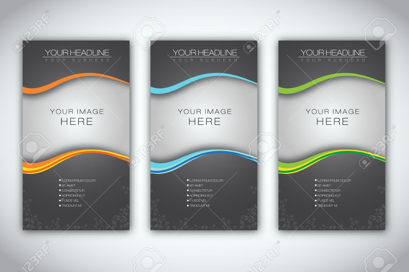 Design banner in publisher - Publisher Set Of Blank Brochure Template Illustration