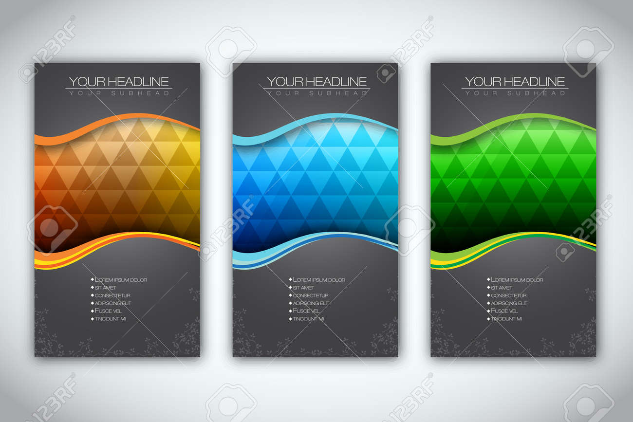 Set of Brochure Template Stock Vector - 14425721