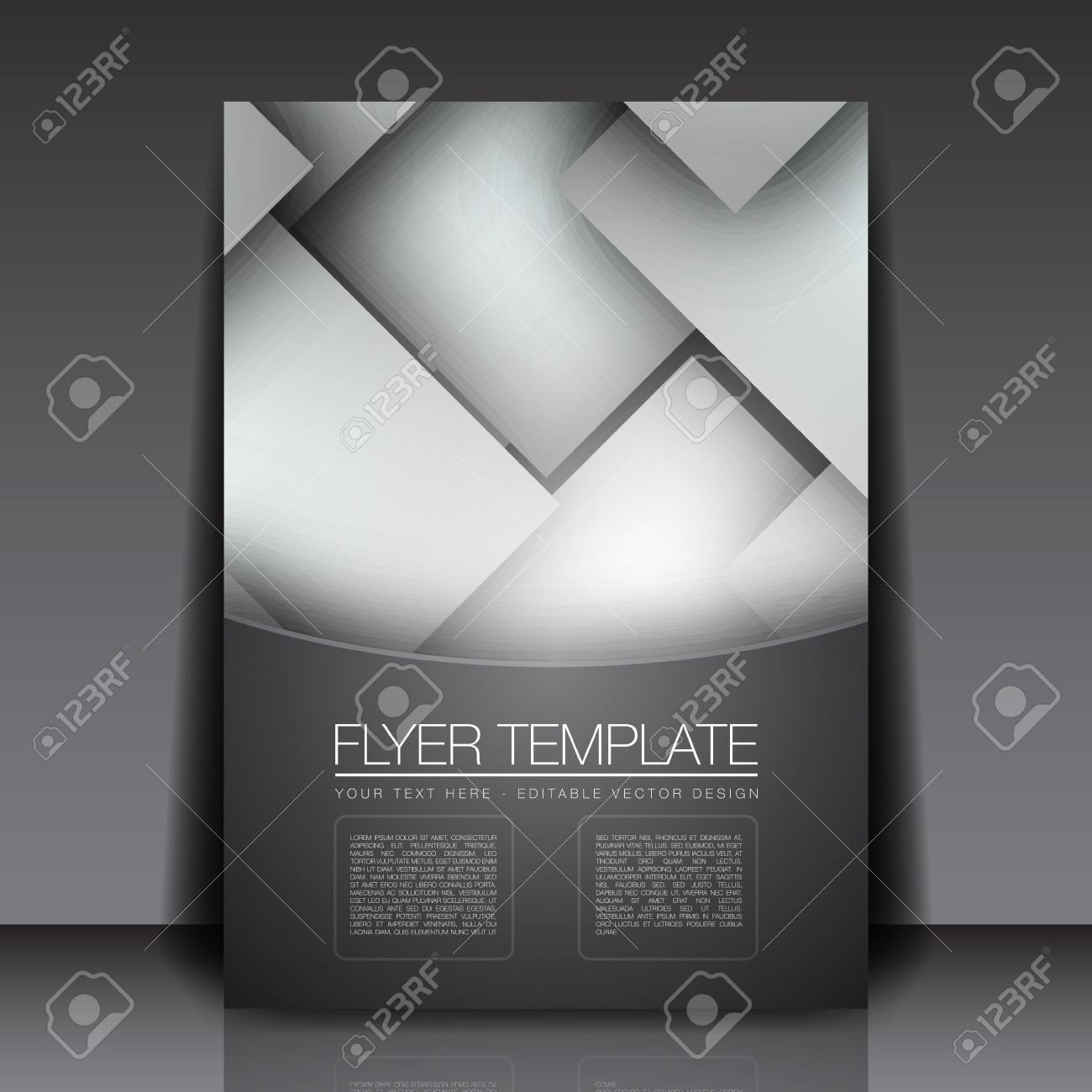 Blank Bright Squares - Flyer Template Design Royalty Free Cliparts ...