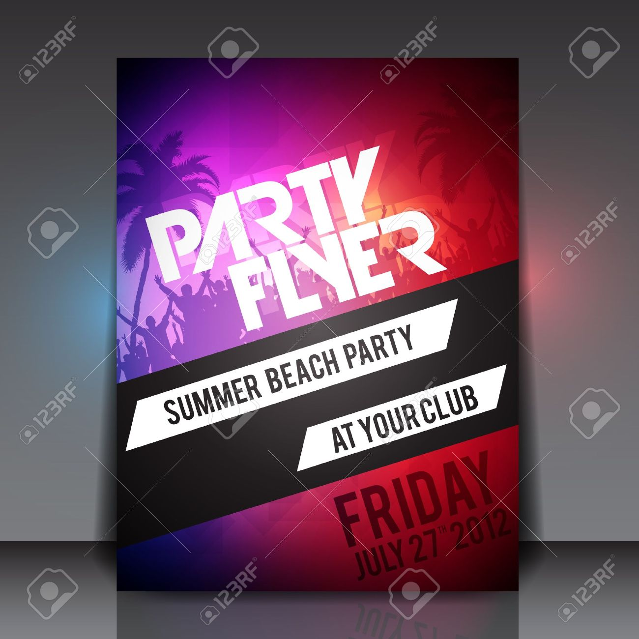 Summer Beach Party Flyer Template Royalty Free Cliparts, Vectors ...